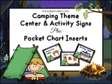 Camping Themed Center Signs &  Pocket Chart Inserts