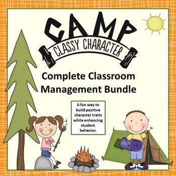 Classroom Management Bundle - Camp Classy Character Fun Camping Theme