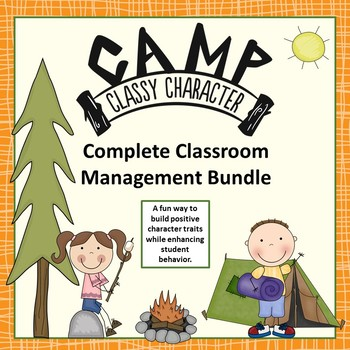 Classroom Management Bundle - Camp Classy Character Fun  Camping Theme
