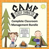 Classroom Management System + Character Lessons Fun Camping Theme