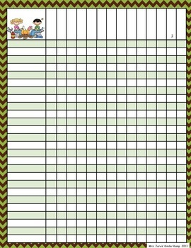 Camping Themed Editable Checklists (with chevron, striped