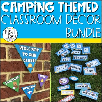 Camping Theme Classroom Decor and More Bundle