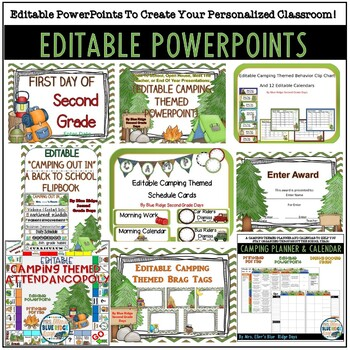 Camping Themed Classroom Bundle