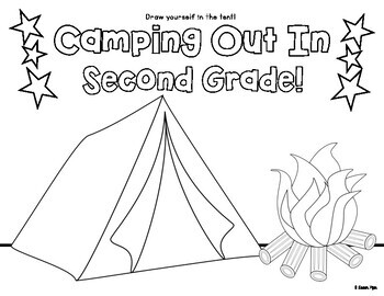 Camping Themed Classroom Coloring Page