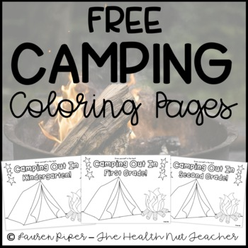 Camping Themed Classroom Coloring Pages