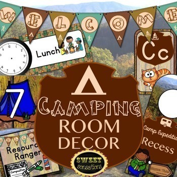 Camping Themed Classroom Decor Bundle