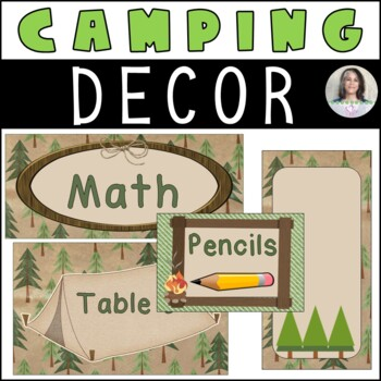 Camping/Outdoors Themed Classroom Décor -  bears, green, brown and orange