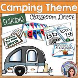 Camping Classroom Decor Editable