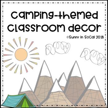 Camping Themed Classroom Decor Editable