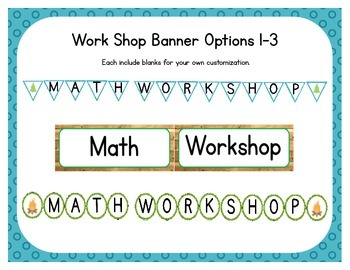 Camping Themed Classroom Small Group Math Center/ Workshop Setup