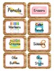Camping Themed Classroom Supply Tags