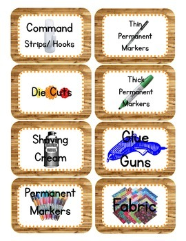 Camping Themed Classroom Supply Tags PART II