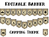 """Camping Themed Classroom Welcome Banner 10"""" X 7"""""""