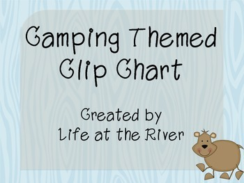 Camping Themed Clip Chart Management System