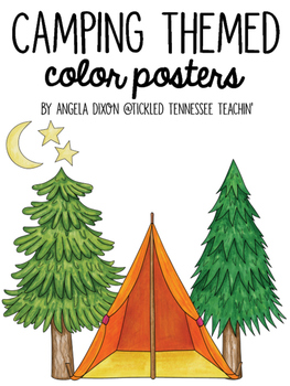 Camping Themed Color Posters