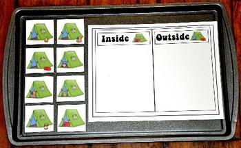Camping Cookie Sheet Activities