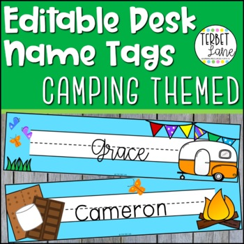 Camping Themed Desk Name Plates