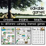 Editable Board Games Camping Theme