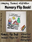 Camping Themed End of Year Memory Flip Book!  Editable!