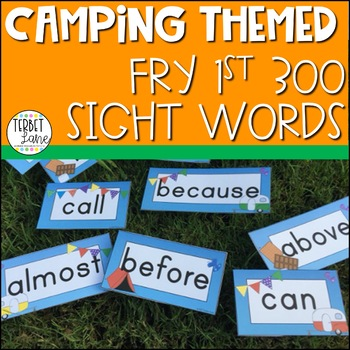 Camping Themed Fry First 300 Sight Word Cards