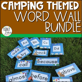 Camping Themed Fry First 300 Sight Word Cards and Alphabet Card Bundle