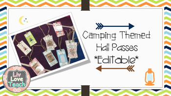 Camping Themed Hall Passes