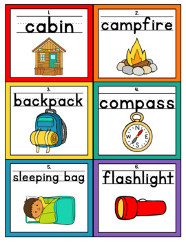 Camping Themed Handwriting Scoot and/or Write the Room (Task cards)