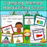 Camping Themed Handwriting Scoot and/or Write the Room (Ta