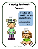 Camping Themed Headbands Game - Right to Read Week- Pragmatic Language
