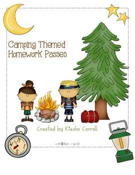Camping Themed Homework Pass By Carroll S Campers Tpt