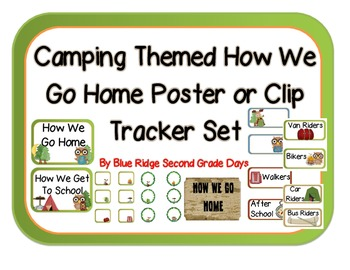 Camping Themed How We Go Home Poster Or Clip Tracker Set