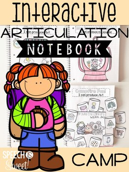 Camping Themed Interactive Articulation Notebook