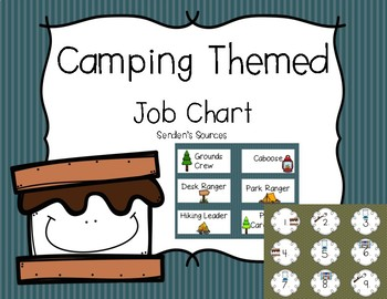 Camping Themed Job Chart
