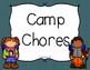 Camping Themed Job Chart
