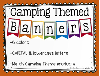 Camping Themed Letter & Number Banners