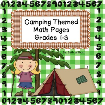 Camping Themed Math Pages