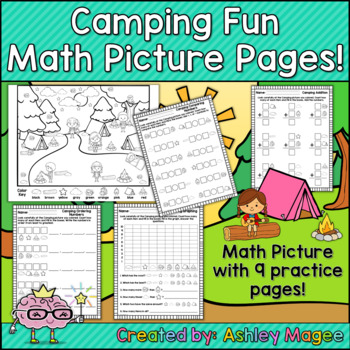 Camping Themed Math Picture Pages