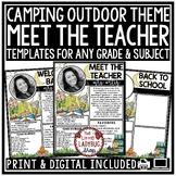 Camping Theme Virtual Meet the Teacher Template Editable B