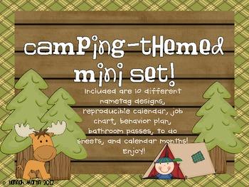 Camping Themed Mini Classroom Set!