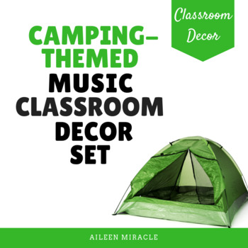 Camping-Themed Music Classroom Decor Set