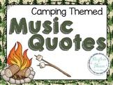 Camping Themed Music Quote Posters