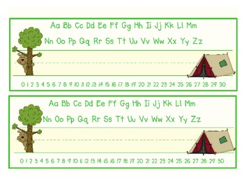 Camping Themed Name Plates