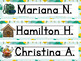 Camping Themed Name Plates - Editable