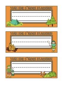 Camping Themed Nameplates