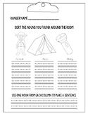 Camping Themed Noun Sort