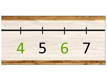 Camping Themed Number Line
