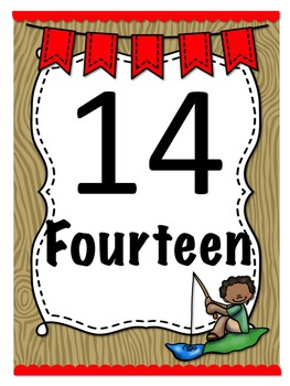 Camping Themed Number Posters