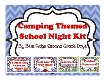 Camping Themed Open House, Back To School, Or Meet The Tea