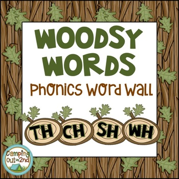 Camping Themed Phonics Word Wall