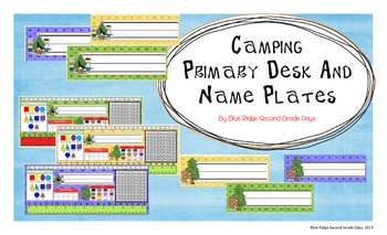 Camping Themed Primary Desk and Name Plates